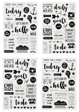 Simple Stories SNAP Collection Carpe Diem Clear Stickers 4918  2016
