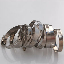 "10x Adjustable 1 3/8""-2"" Stainless Steel Drive Hose Clamp Fuel Line Worm Clips"
