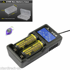 Xtar VC2 Battery Charger 18650 18350 26650 Li-ion batteries DIRECT UK