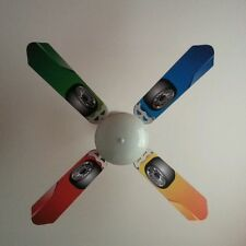 Racing Car Wheel Ceiling fan sticker skins childrens bedroom wall decal