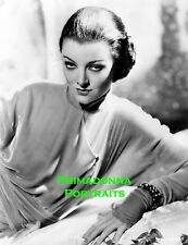 MYRNA LOY 8X10 Lab Photo B&W Portrait SEXY MYSTERIOUS Asian Inspired Look Beauty