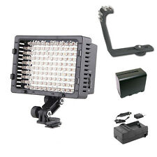 Pro 12 SLR LED video light F970 for Sony a7 a7R RX10 Pentax K3 Panasonic GM1