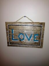 "Reclaimed Upcycled ""LOVE"" Sign -  Wood Pallet Recycle Barn Rustic Vintage"
