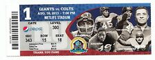 2013 NEW YORK GIANTS VS INDIANAPOLIS COLTS TICKET STUB 8/18/13 ANDREW LUCK