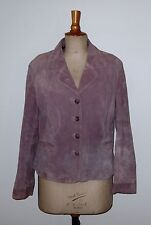 Vintage Ladies Lavender Suede Soft-Fitted Jacket by WS Leather. UK 16