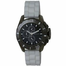 Henley Boy's Quartz Watch with Black Dial Analogue Display and White Silicone St