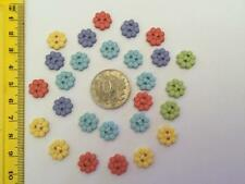 Small petite multicolored flowers novelty buttons Dress It Up 6973
