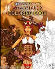 Steampunk Uber Adult Colouring Book Manga Anime Cosplay Cartoon Gaming Gamer