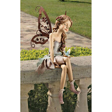 FAIRY PIXIE GARDEN w BIRD STATUE SCULPTURE OUTDOOR or INDOOR DECOR NEW
