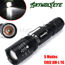 Sky Wolf Eye Zoomable 5000LM Taschenlampen CREE XM-L T6 LED 18650 Tactical Torch