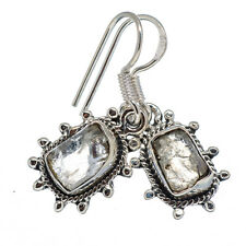 "Rainbow Moonstone 925 Sterling Silver Earrings 1 1/4"" Ana Co Jewelry E340270F"