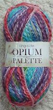 100g Opium Palette Cotton Mix Fancy Yarn Knitting Wool Crochet Yarn King Cole