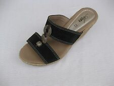 Azura Womens Shoes $120 NEW Harvard Black Nubuck Wedge Slide 40 9