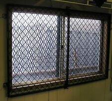 "48"" x 29"" Woven Wire Security Window Guard Mobile, Modular Office trailer Window"