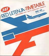 JAT YUGOSLAV AIRLINES SUMMER TIMETABLE 1979 RED LETENJA DC-10 JUGOSLOVENSKI AERO