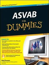 ASVAB For Dummies, Premier 3rd Edition by Powers, Rod, Good Book