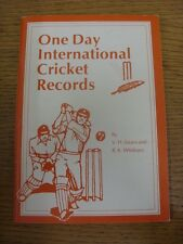circa 1990's Cricket: One Day International Cricket Records. Thanks for viewing