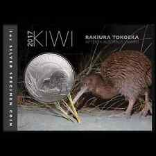 NEW ZEALAND 2017 KIWI SPECIMEN 1 OZ SILVER  BU!!! NEW RELEASE!!