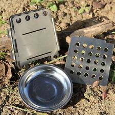 Foldable Camping Multi fuel Wood Pocket Alcohol Backpacking Burning Cook Stove