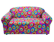 TIE DYE WASHABLE COVERS FOR LOVESEAT SOFA COUCH CHAIR RECLINER FUTON--STRETCHES