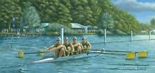 STUNNING ORIGINAL RICHARD HARPUM M.A (Camb) HENLEY REGATTA ROWING  PAINTING