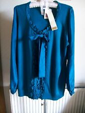 Kingfisher Long Sleeve Jumper with 100% Silk Trim, Size 22, M&S, BNWT