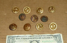 Vintage 11 Eagle Anchor Buttons,Old Military,Navy,Marines,for Uniform,Coat,or ?