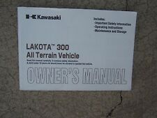 Kawasaki Lakota 300 All Terrain Vehicle ATV Owner Manual Off Road Operation  SS