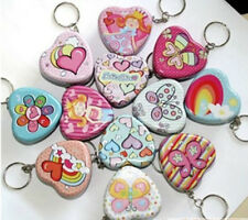 10pcs Mini Tins storage with keyring heart shape boxes metal container