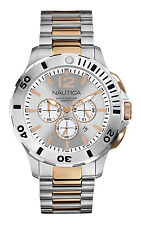 Nautica N27525G Rose Gold and Silver Tone Accents Men's Chronograph Watch Date