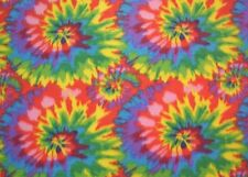 Tie Tye Dye Starburst Fleece Fabric Print by the Yard A511.09