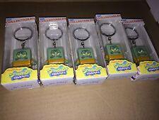 "Nickelodeon Squidward 1.5"" Vinyl Collectible Keychains Spongebob LOT OF 5"