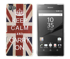 CASE F Sony Xperia z5 Compact Custodia Protettiva Custodia Cover Keep Calm and Carry On