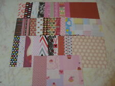 VALENTINE SCRAPBOOK PATTERNED PAPER LOT 6X6 CARDS CRAFT HEARTS LOVE
