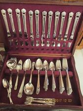 1847 Rogers Bros Silverplate Flatware ETERNALLY YOURS 105 pc set for 12 +serving