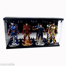 """Acrylic Display Case Light Box for Four 12"""" 1/6th Scale IRON MAN 3 Action Figure"""