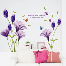Wandtattoo Liebe Schmetterling Blumen Wandaufkleber Wandsticker Wohnzimmer DIY