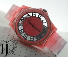 NEW MARC BY MARC JACOBS HENRY SKELETON GRADIENT FLURO CORAL WATCH MBM4568