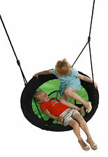 GARDEN MULTIPLE KIDS GROUP NEST SWING W/SOFT SEATING, 100CM, APPLE GREEN/BLACK