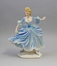 Porzellanfigur Barock-Tänzerein blaues Kleid  Ens Thüringen  9941429