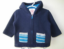 HANNA ANDERSSON Cozy Ever After Fleece Jacket Navy 70 9-18 months NWT