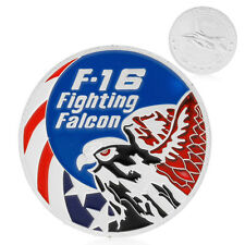 F-16 Fighting Falcon Air Force Eagle Challenge Silver Plated Commemorative Coin