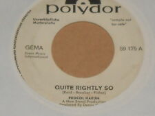 "Procol harum-quite rightly so - 7"" 45 signifiant promo"
