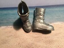 BARBIE KEN FASHIONISTA SILVER HIGH TOP BUCKLE BOOTS EXCELLENT COND