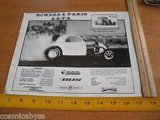 """1980's Bowers & Paris AA/FA photo card 8x10"""" Jerry Rushing Specialty Cars"""
