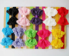 10 pcs Girl Baby Toddler Lace Flower Headband Hair Bow Band Headwear Accessories