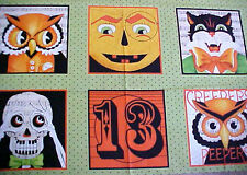 Halloween Creepers Peepers Music Cotton Quilt Square Fabric Panel Frisch