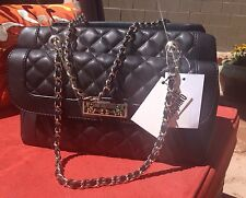 Stunner*** Love Moschino Chain Strap Quilted Shoulder Bag Black (Brand New)