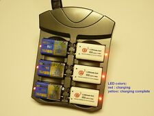 9V Charger for 1-6 Li-ion, NiMH and NiCd batteries auto detect rapid charging
