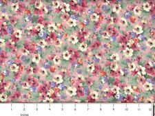 Country Floral 100% Cotton Sewing & Quilting Fabric BTY
